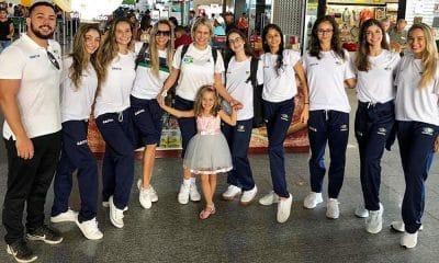 Seleção brasileira de ginástica rítmica do Grand Prix de Moscou nas 5 bolas e série mista