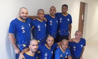 Seleção brasileira de goalball faz homenagem a colega com câncer