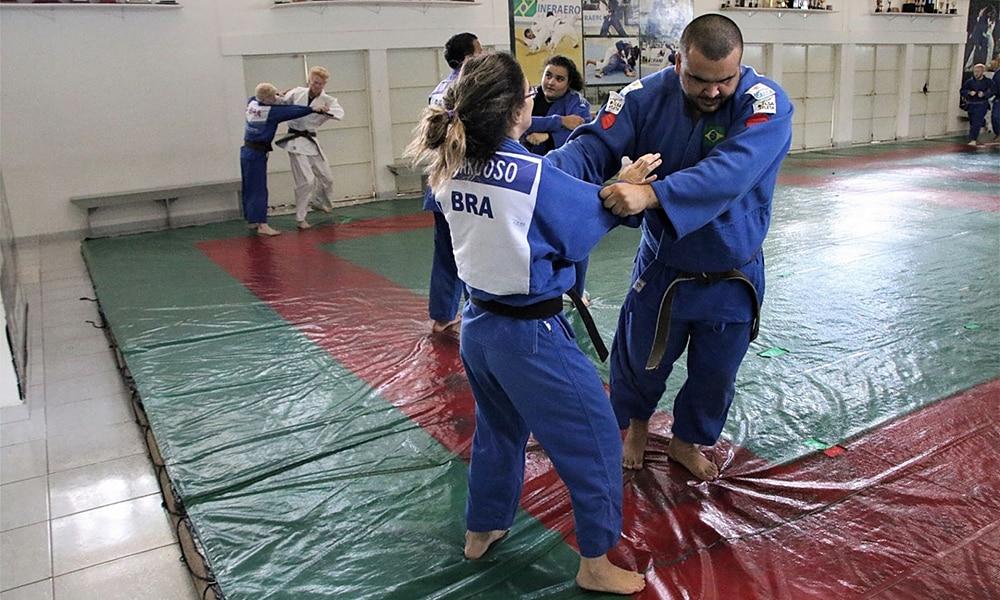 Karen Cardoso e Wilians Araújo Saiu convocação da Seleção Brasileira de judô paralímpico calçada da fama