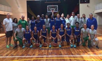 Seleção brasileira de basquete feminino que vai disputar o pré-olímpico mundial