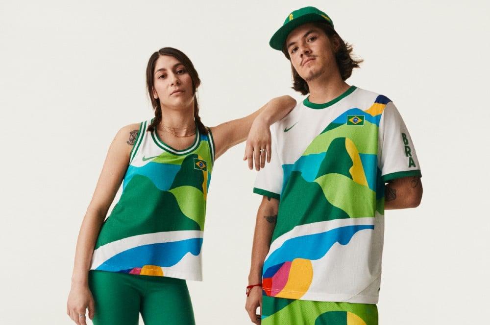 Uniforme do skate do Brasil em Tóquio