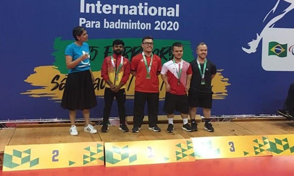 Vitor Tavares é campeão do Brazil Parabadminton International na Classe SH6