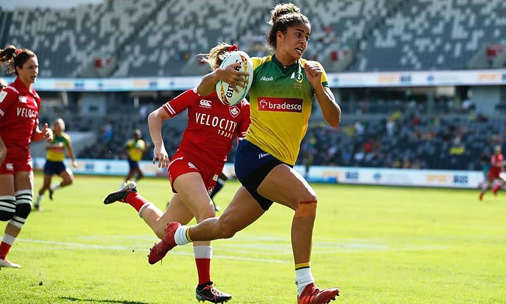 seleção brasileira de rugby feminino Yaras na etapa de Sydney d série mundial de rúgbi  Sevens Series