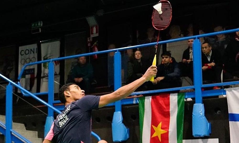 Ygor Coelho no Super 300 de Barcelona de badminton