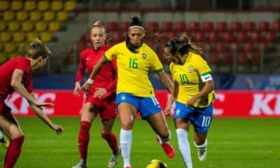 Brasil abre 2 a 0 mas cede empate ao Canadá futebol feminino