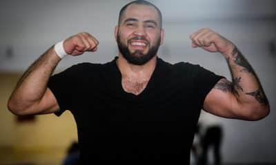 Eduard Soghomonyan comemorou a classificação para o wrestling dos Jogos de Tóquio