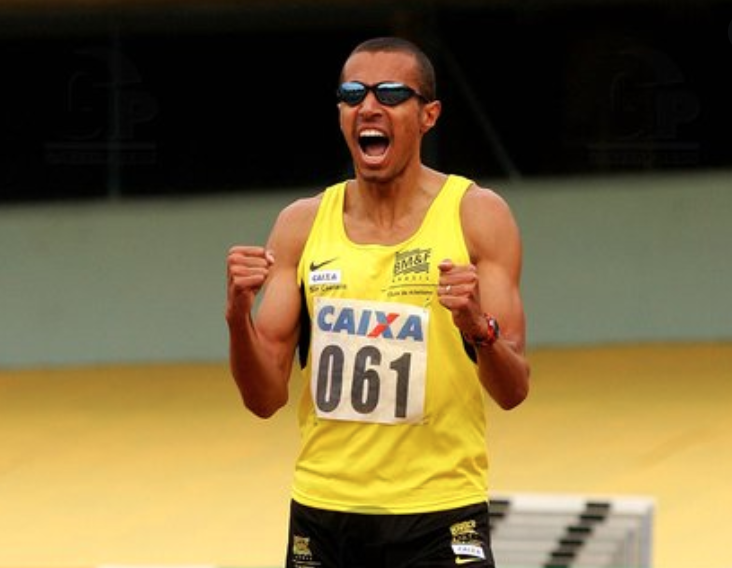 Sanderlei Parrela foi o quarto colocado nos 400m masculino dos Jogos Olímpicos de Sydney