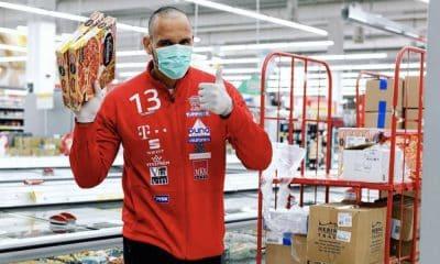 coronavírus Time de Rogério Moraes ajuda a reabastecer supermercado Vészprem