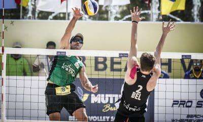 Evandro e Bruno Schmidt representam o Brasil no Qatar - Foto: Divulgação/FIVB