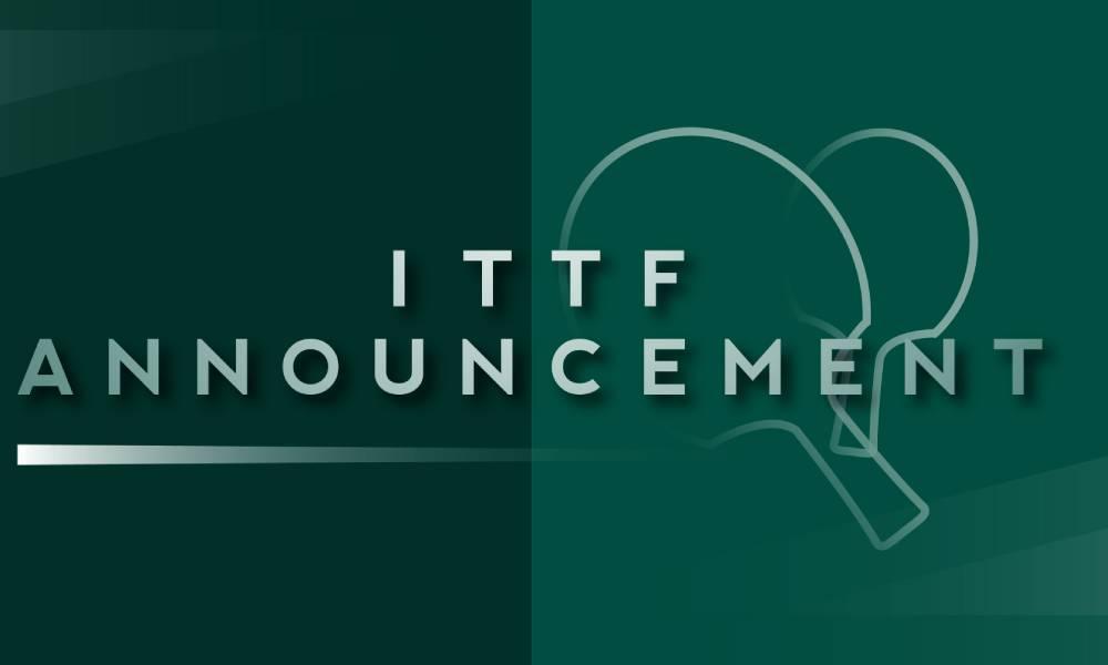 ITTF extende suspensão de torneios até o dia 30 de junho tênis de mesa coronavírus