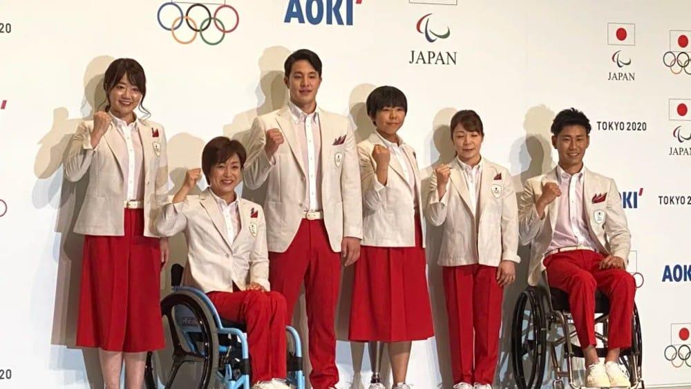 Uniformes do Japão para a cerimônia de abertura