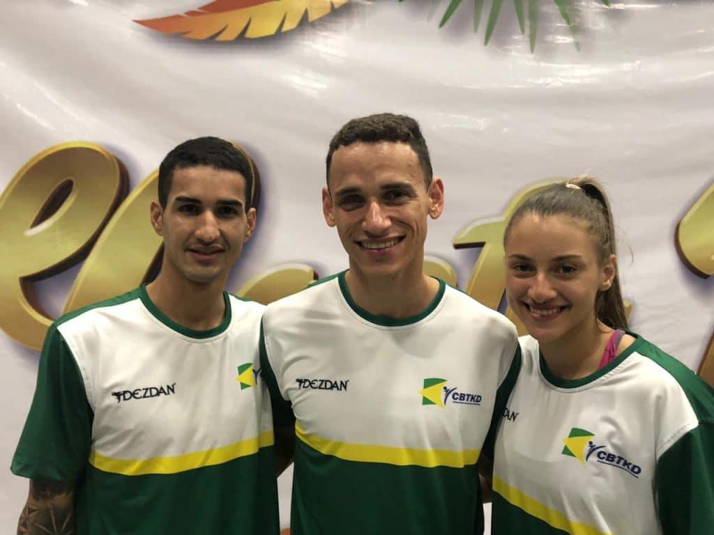 Edival Pontes, Ícaro Miguel e Milena Titoneli são os atletas brasileiros classificados no taekwondo para a Olimpíada de tóquio