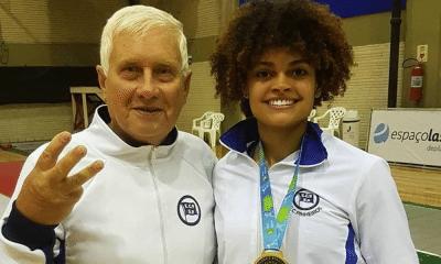 Esgrima, Bia Bulcão e o treinador Gennady Miakotnykh