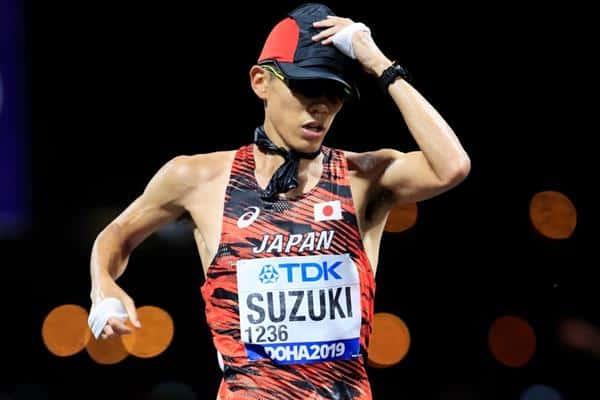 Yusuke Suzuki foi campeão mundial da marcha 50km masculina em 2019 favorito jogos olímpicos tóquio 2020