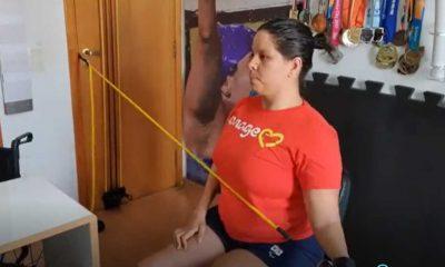 Edênia Garcia fez CT dentro do quarto