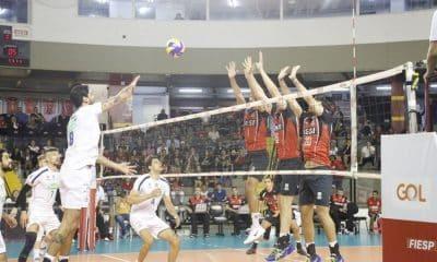 Mesmo com o resultado negativo, o time celeste não pode ser alcançado na tabela – Foto: Jessica Teles/ Sesi-SP