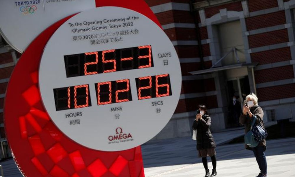 Adiamento: Relógio na estação central de Tóquio - Japão - parou a contagem regressiva para Jogos Olímpicos do Japão(Foto: Reuters/Issei Kato)