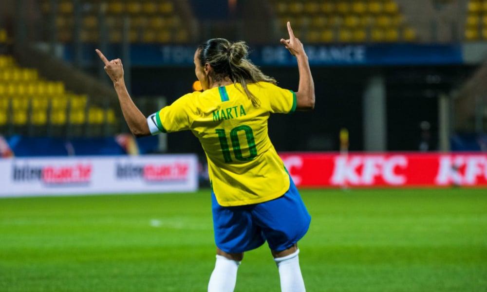 seleção brasileira de futebol feminino foi a primeira a se classificar para a Olimpíada de Tóquio