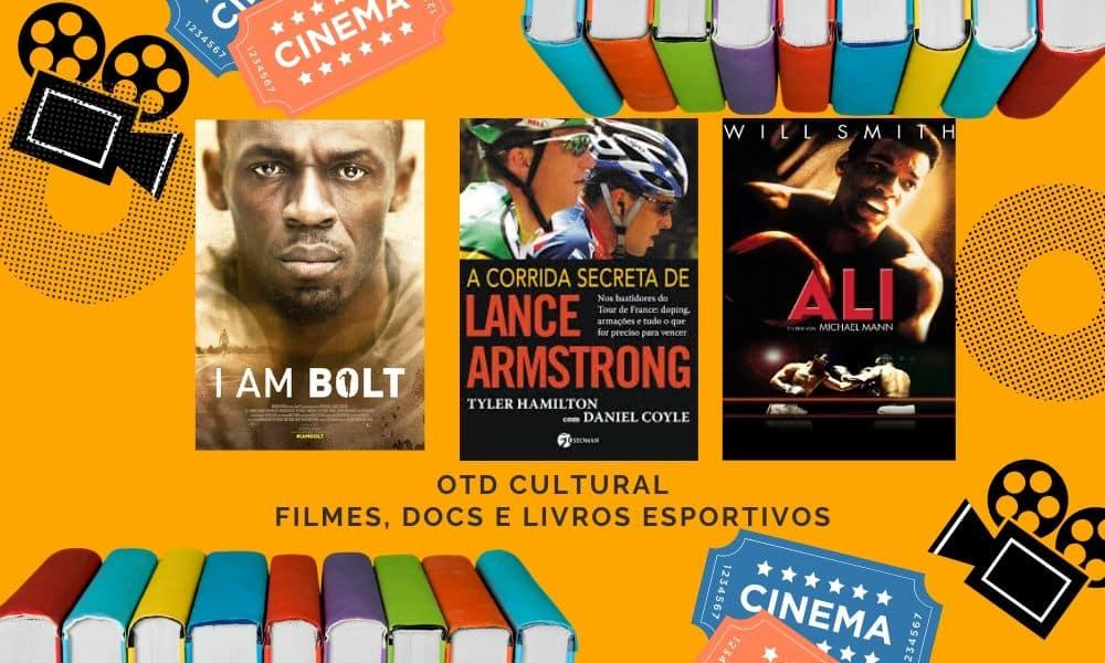 livros esportivos, documentários esportivos e filmes esportivos para se ver na quarentena