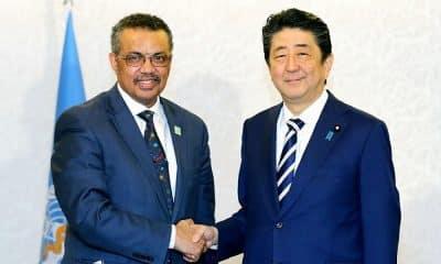 coronavírus oms Tedros Ghebreyesus Shinzō Abe japão