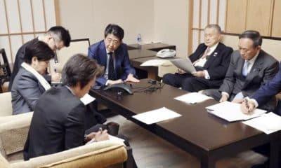 Comitê organizador de Tóquio - Mori - Abe - Adiamento Jogos Olímpicos