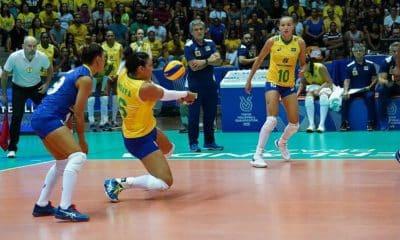 Brasil enfrentou a República Dominicana, pelo Pré-Olímpico de vôlei feminino, em Uberlândia (MG), e conseguiu a vaga para Tóquio 2020 - Raul Vasconcelosrededoesporte.gov.brDireitos Resevados
