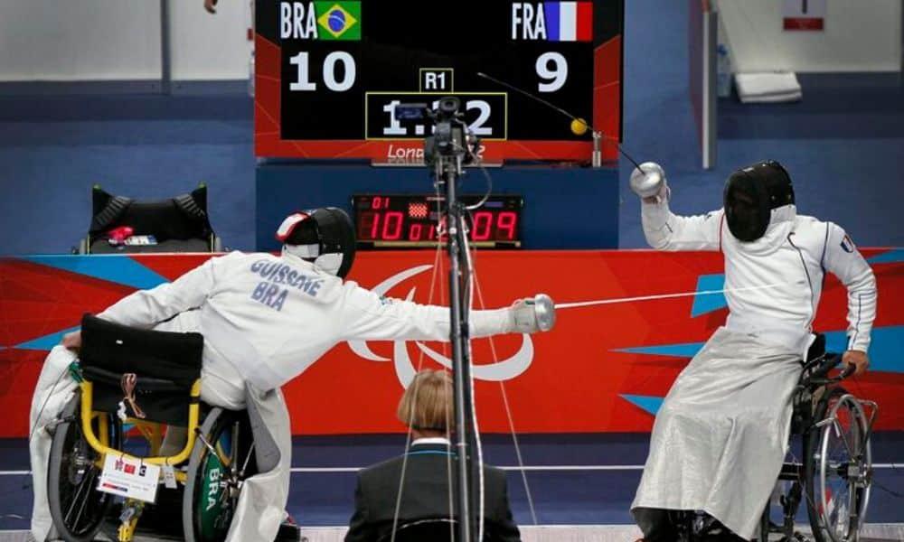 Jovane Guissone, conquistou o ouro paralímpico da esgrima em Londres 2012