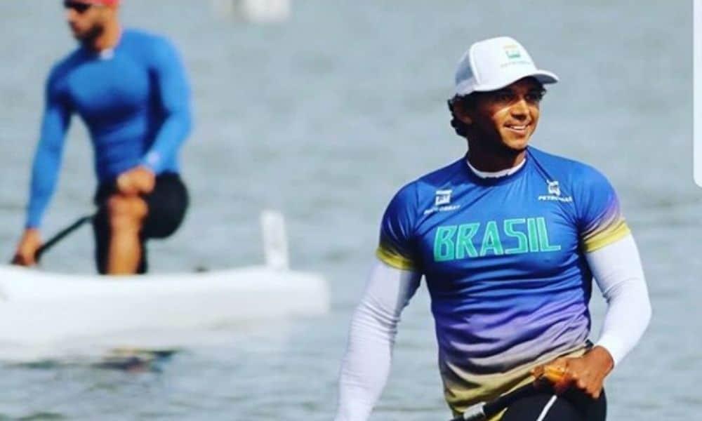 Isaquias Queiroz na Etapa de Poznam da Copa do Mundo de canoagem de velocidade
