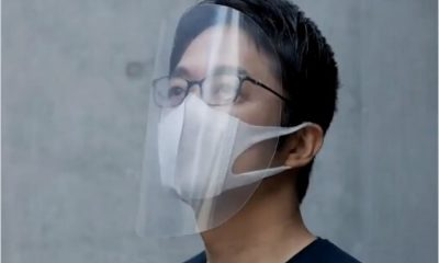 Designer da tocha Olímpica de Tóquio 2020,Tokujin Yoshioka cria máscara contra coronavírus