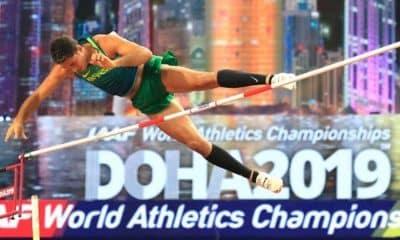 Thiago Braz, ex-Pinheiros, no Mundial de Atletismo Doha 2019