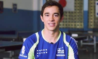 No Rio de Janeiro, exatamente onde começou a jogar tênis de mesa, Hugo Calderano fala sobre o que é inspiração para ele.