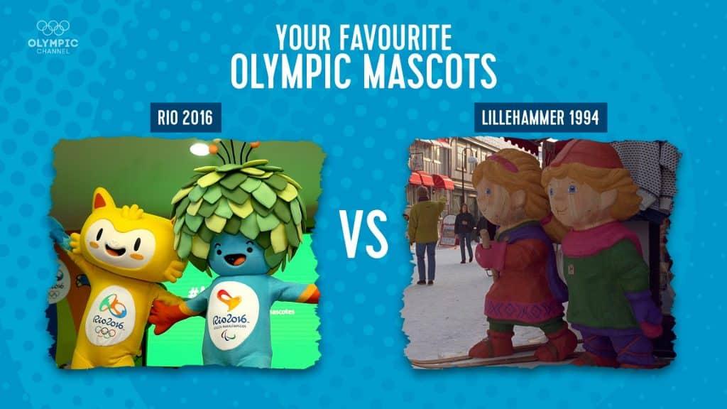 Vinícius e Tom, mascotes dos Johos Olímpicos e Paralímpicos Rio 2016 vencem Lillehammer 94 fácil na votação