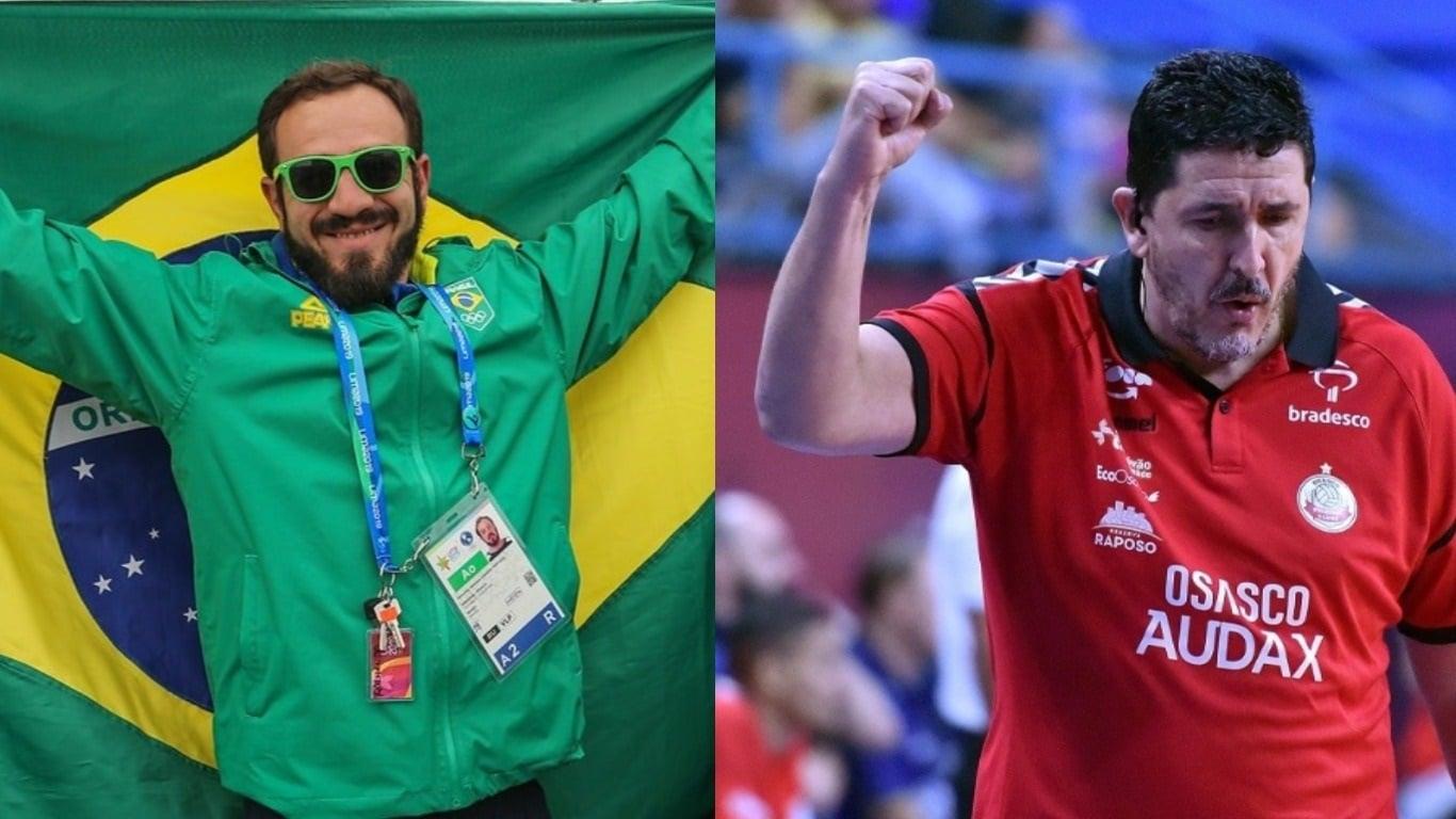 Luizomar de Moura, do vôlei, e Fernando Portugal, do rúgbi, trocaram conhecimento