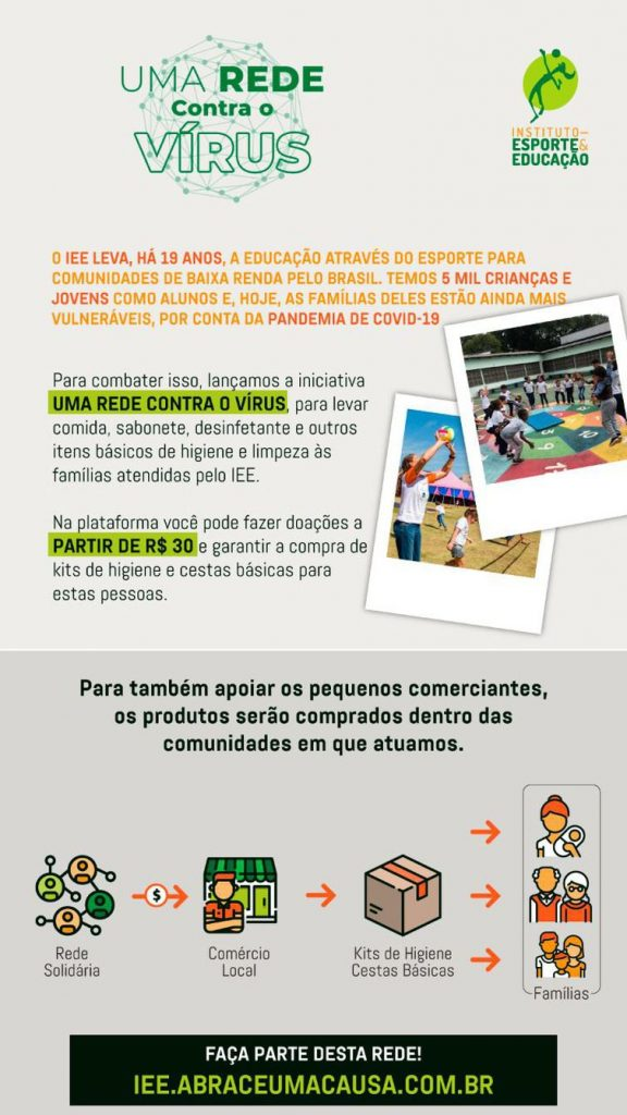 """Ana Moser lança campanha """"Uma Rede contra o Vírus"""""""