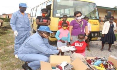 FIJ - Campanha de distribuição de máscaras - coronavírus - áfrica