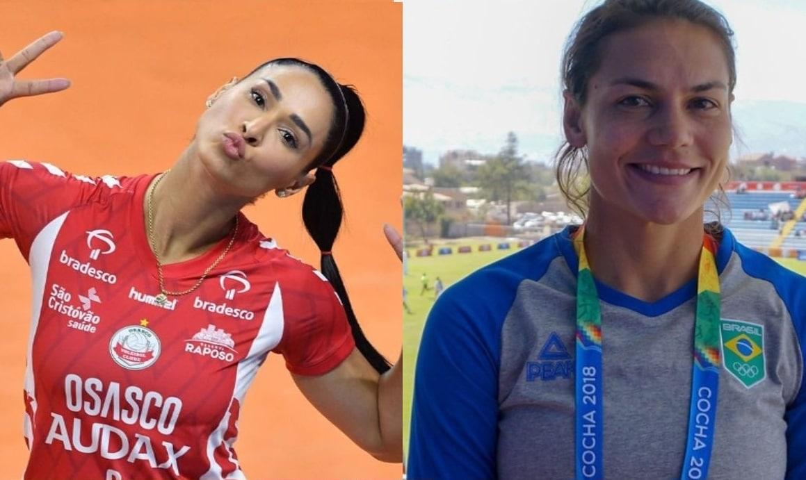 Baby Futuro, do rúgbi, e Jaqueline, do Vôlei, relembraram as Olimpíadas do Rio de Janeiro
