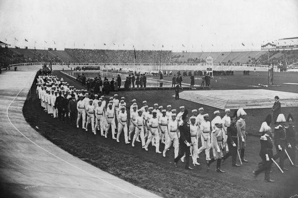 cerimônia de abertura dos jogos olímopicos londres-1908