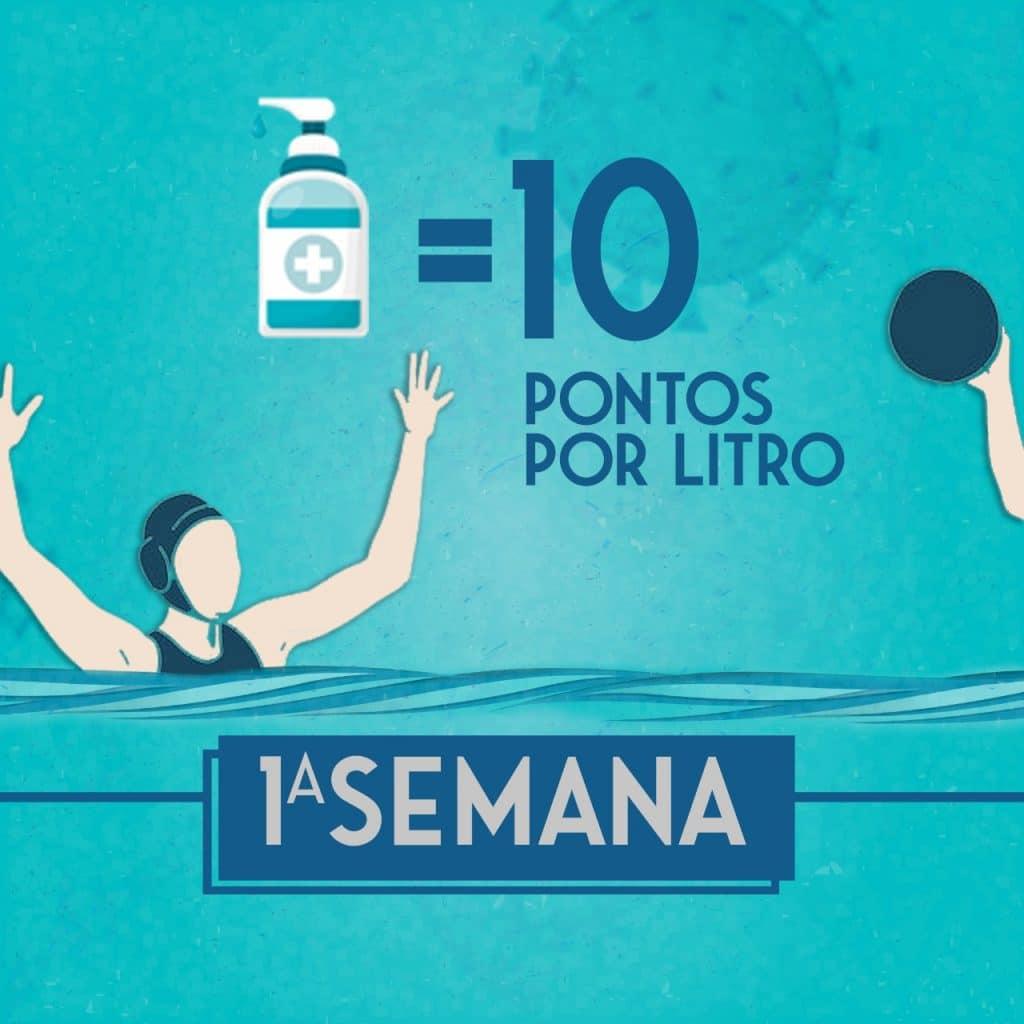 Cada semana o produto arrecadado dará pontos na campanha da Polo Aquático Brasil