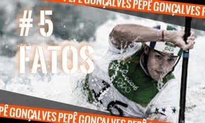 Pepê Gonçalves, da canoagem slalom, durante a participação na Rio 2016 (Arte #5fatos: Caio Poltronieri)
