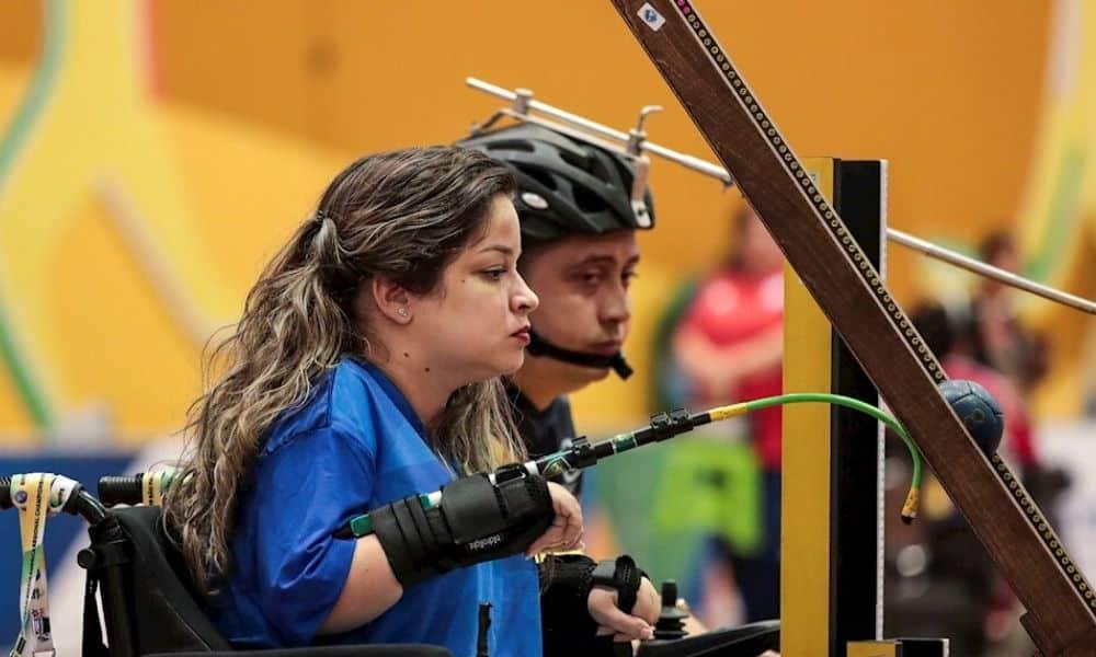 Evani Calado, atleta da bocha paralímpica vaga