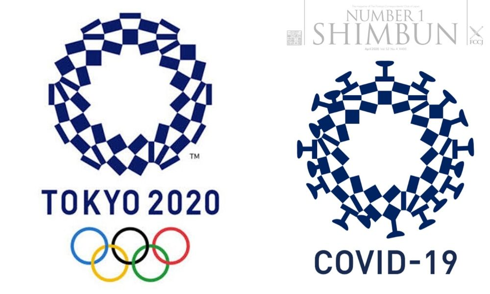 Logo de Tóquio 2020 e o logo da discórdia na pandemia