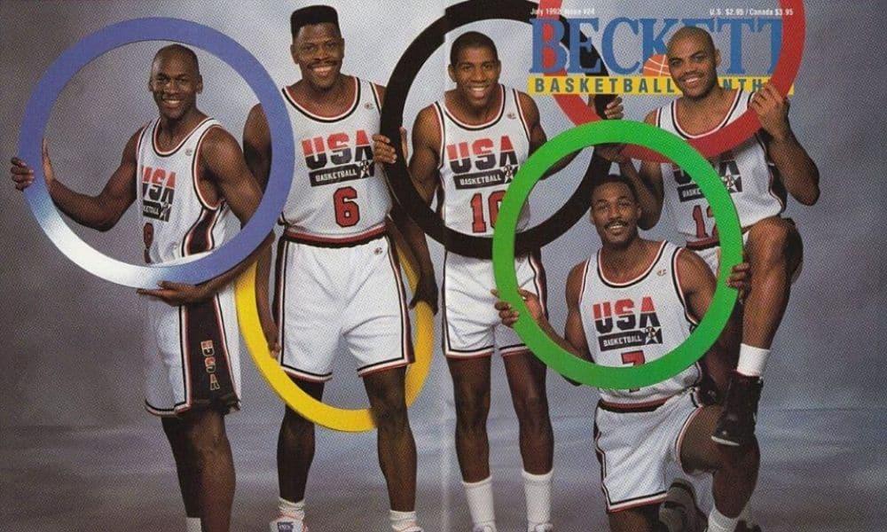 Patrick Ewing e o 'Dream Team', time que levou o ouro olímpico em Barcelona 1992