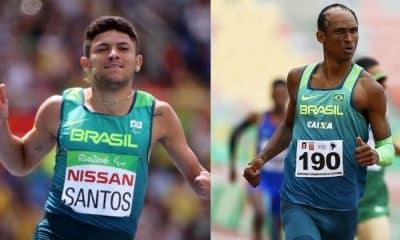 Petrúcio Ferreira e Alison dos Santos, ambos do atletismo