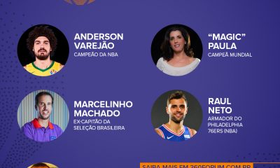Magic Paula, Marcelinho Machado, Raul Neto e Anderson Varejão participaram das conversas relacioandos ao futuro do basquete após coronavírus