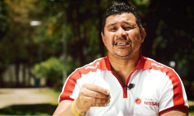 Clodoaldo Silva, ex atleta da natação paralímpica e mentor do Time Nissan, durante a gravação da série Inspiração (Reprodução)