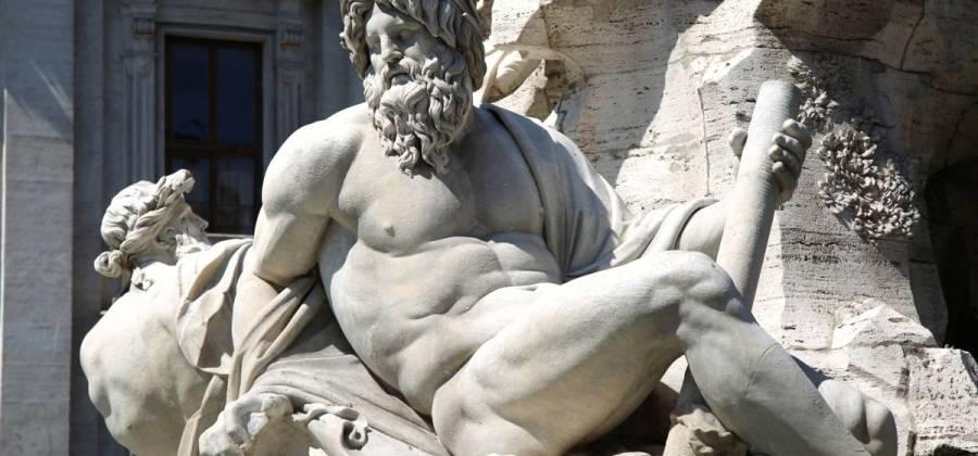 Zeus, deus que era o homenageado pelo templo em que eram premiados os vencedores dos Jogos Olímpicos da Grécia Antiga