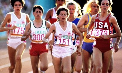 Mary Decker e Zola Budd Olimpíada de Los Angeles-1984