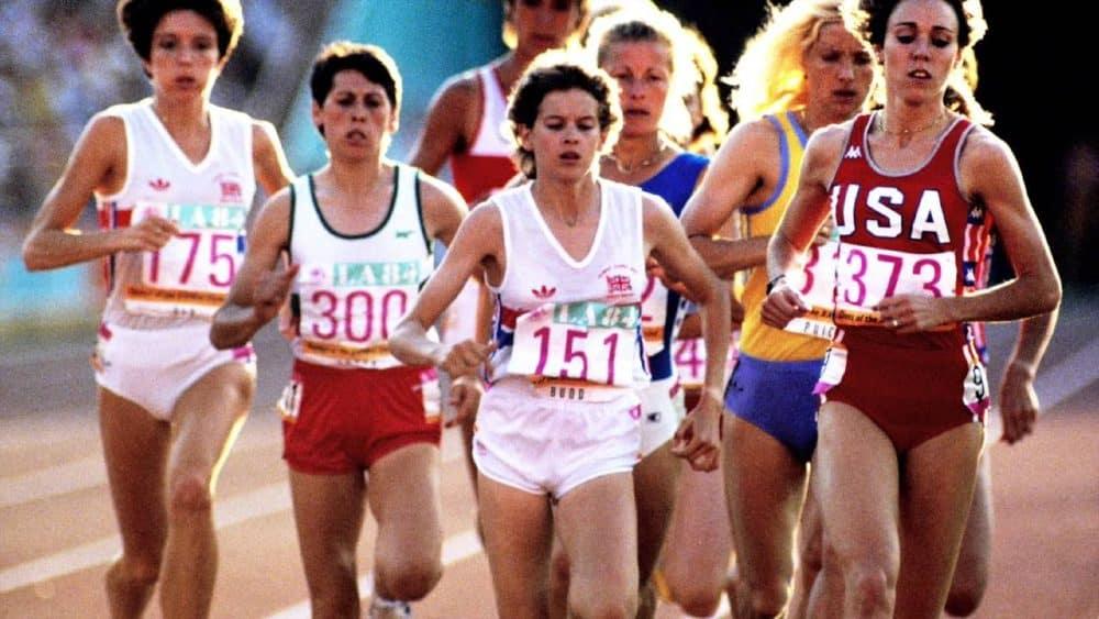 Mary Decker e Zola Budd Olimpíada de Los Angeles-1984