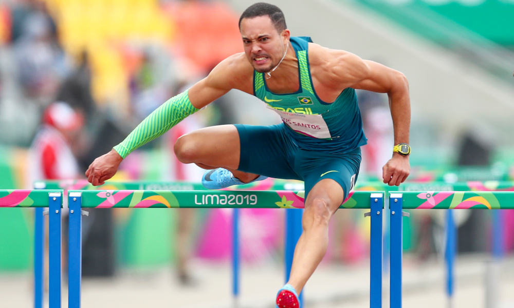 Eduardo de Deus, representante dos 110m com barreiras masculino nos Jogos Olímpicos de Tóquio