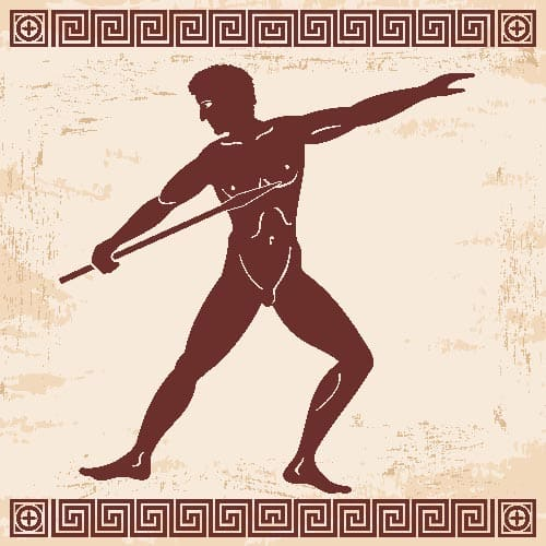 modalidades dos jogos olímpicos da grécia antiga - lançamento de dardo